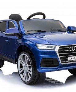 Masinuta electrica Audi Q5 cu scaun de piele Blue