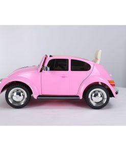 Masinuta electrica cu roti EVA Volkswagen Beetle roz