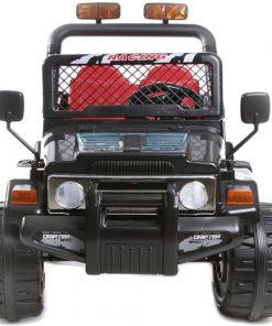 Masinuta electrica cu doua locuri si roti din plastic Drifter Jeep 4x4 Negru