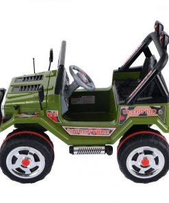 Masinuta electrica cu doua locuri si roti din plastic Drifter Jeep 4x4 Kaki