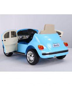 Masinuta electrica cu roti EVA Volkswagen Beetle albastru