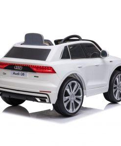 Masinuta electrica roti EVA 12V Audi Q8 alb
