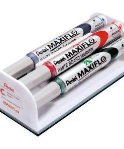 Set Maxiflo pentru tabla format din 4 marker asortate + bure