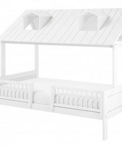 Pat casuta Lifetime Beach House Luxury lemn de pin alb 120 cm