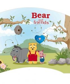 Patut Tineret Lucky 55 Bear and Friends 140x80 cm