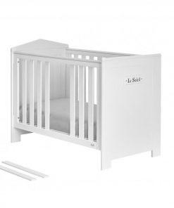 Patut bebe fix Pinio Marsylia 120x60 cm Mdf alb