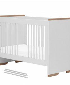 Patut bebe fix Pinio Snap 120x60 cm PAL melaminat alb