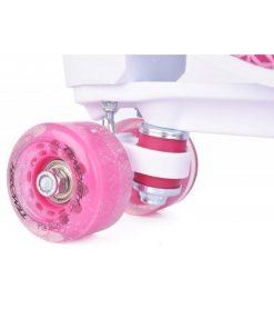 Role copii Quad roti poliuretan roz fete Tempish marime 35