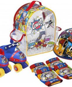 Set Patine cu rotile pentru copii Saica 9745 Comic marime reglabila 24-29