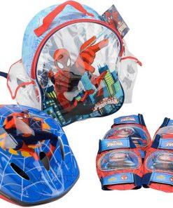 Set accesorii protectie pentru bicicleta role si trotineta Saica 9420 Spiderman