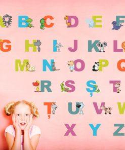 Stickere perete copii Alfabet - 60 x 100 cm