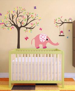 Stickere perete copii Animalute si copacel - 111 x 130 cm