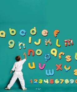 Stickere perete copii alfabet si cifre - 100 x 91cm