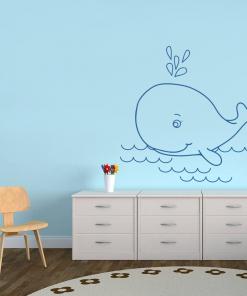 Stickere perete copii Balena - 130 x 127 cm