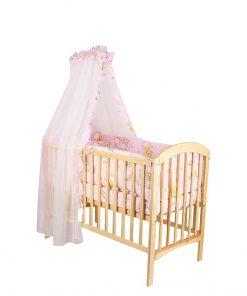 Baldachin patut,ursuletul somnoros, roz, 300x160 cm