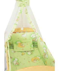 Baldachin patut, ursuletul somnoros verde, 200 x 160 cm