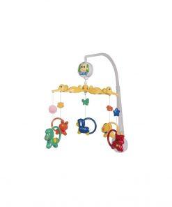 Carusel muzical, plastic, animalute colorate