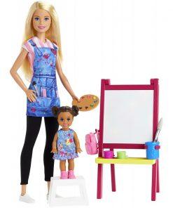 Set de joaca Barbie, Profesoara de desen, GJM29