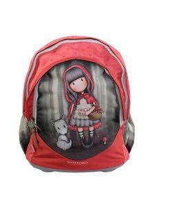 Ghiozdan ergonomic baza rigida Gorjuss Little Red Riding Hood