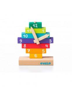 Jucarie din lemn Cubika Sa invatam ceasul, 3ani+