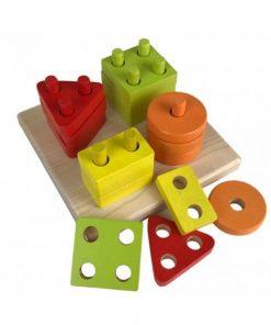 Jucarie din lemn Cubika, Sortator forme Geometrice, 18luni+