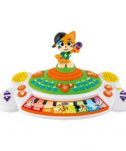 Jucarie muzicala educativa Chicco, 44 Cats, Pianul Lampo, 1-4 ani