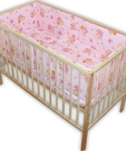 Lenjerie patut Hubners Ursulet cu albinute 5 piese roz