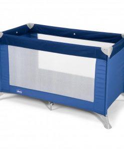 Patut pliant pentru copii Chicco Good Night - fara etaj intermediar, 0 luni+, Albastru