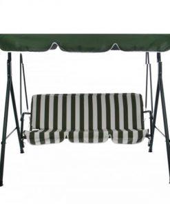 Leagan/Balansoar pentru gradina sau terasa 3 locuri - 170x153x110 cm cu structura metal