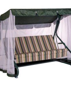Balansoar Jamaica pentru 3 persoane 209 x 138 x 155 cm pat Verde
