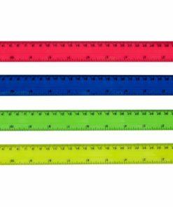 Rigla plastic colorata 30 cm