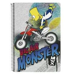 Caiet cu spira The Simpsons A4