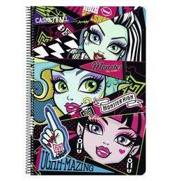 Caiet plastifiat Monster High All