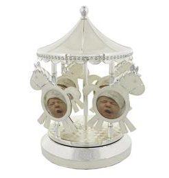 Carusel muzical argintat pentru bebelusi - Juliana