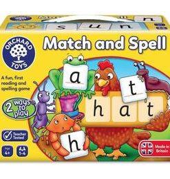 Joc educativ - Match and Spell. Potriveste si formeaza cuvinte