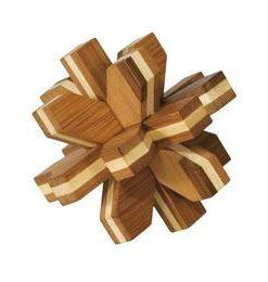 Joc logic IQ din lemn de bambus Cristal 3D