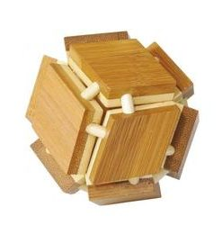 Joc logic iq din lemn de bambus magic box - Fridolin