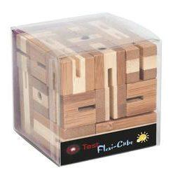 Joc logic puzzle 3d din bambus flexi-cub - Fridolin