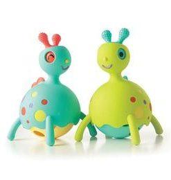 Jucarie educativa pentru bebelusi Rollobie Blue - Fat Brain Toys