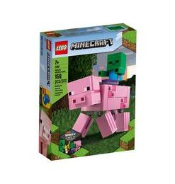 LEGO Minecraft.- Porc BigfFg cu Bebelus de zombi