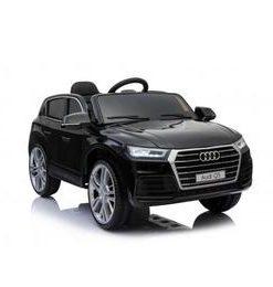 Masinuta electrica Audi Q5 cu scaun de piele Black