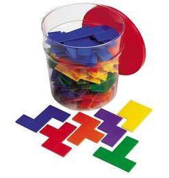Piese tetris curcubeu - Pentomino - jucarie educativa - Learning Resources