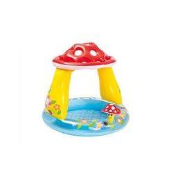 Piscina gonflabila pentru copii cu acoperis pentru protectia solara - Ciupercuta 102 x 89 cm - Nebunici