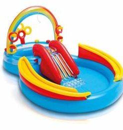 Piscina gonflabila pentru copii cu tobogan - Centru de joaca - 297x193x135 cm Nebunici