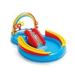 Piscina gonflabila pentru copii cu tobogan - Centru de joaca - 297x193x135 cm - Nebunici