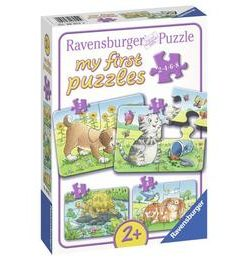 Primul meu puzzle animale, 2/4/6/8 piese - Ravensburger