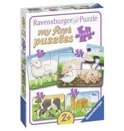 Primul meu puzzle animale de la ferma, 2/4/6/8 piese - Ravensburger