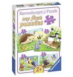 Primul meu puzzle animale din padure, 2/4/6/8 piese - Ravensburger