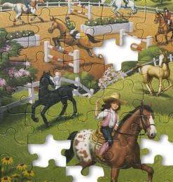 Primul meu puzzle eco din carton Calutii