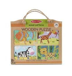 Primul meu puzzle eco din lemn Animalele